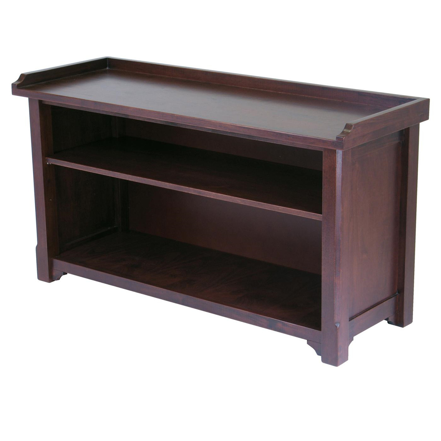 Winsome milan bench with storage shelf by oj commerce 94640 Bench with shelf