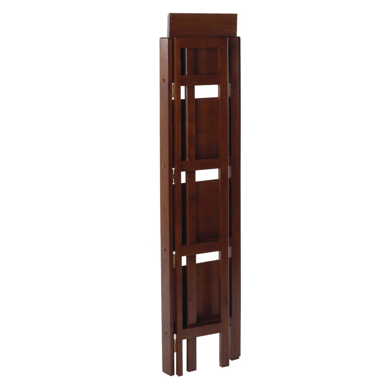 Winsome 4 tier folding shelf narrow by oj commerce 94852 Folding bookshelf