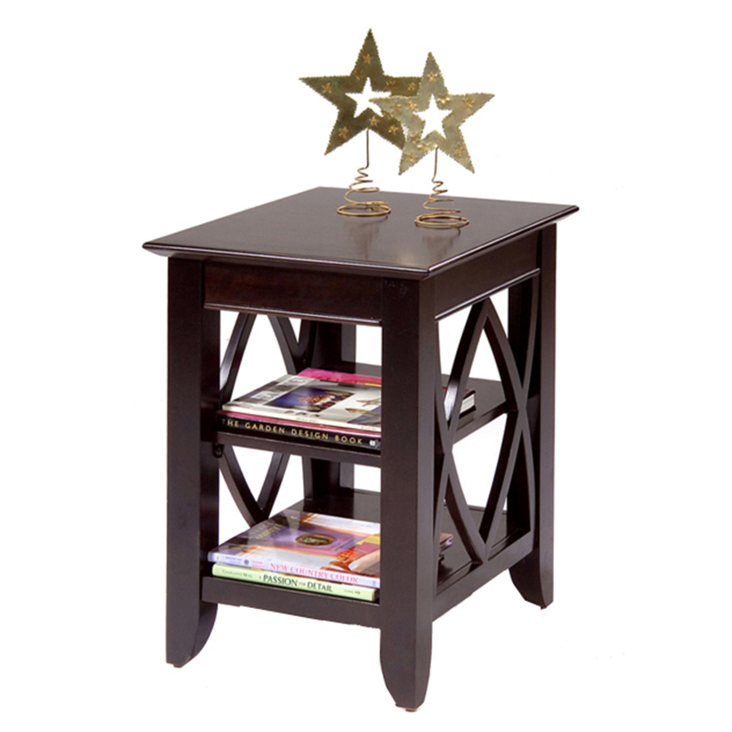 liberty furniture piedmont shelf end table by oj commerce. Black Bedroom Furniture Sets. Home Design Ideas