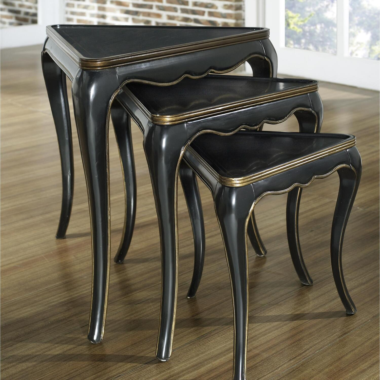 Gold Nesting Tables ~ Pulaski black gold nesting tables by oj commerce