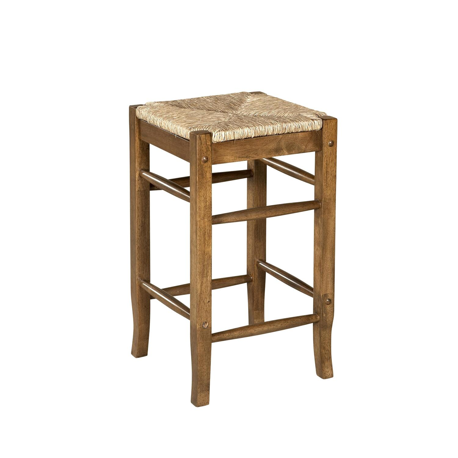 Linon Tulsa Rush Seat Stool By Oj Commerce