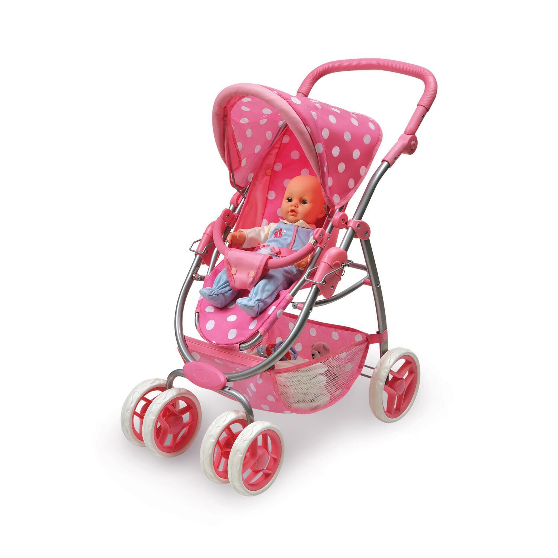 Badger Basket Six Wheel Doll Travel System Stroller And