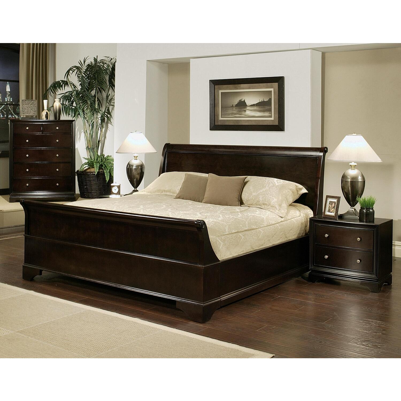 Abbyson Living 4 Piece Sleigh King Size Bedroom Set By Oj