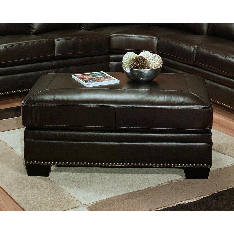 Abbyson Living Italian Leather Ottoman By Oj Commerce