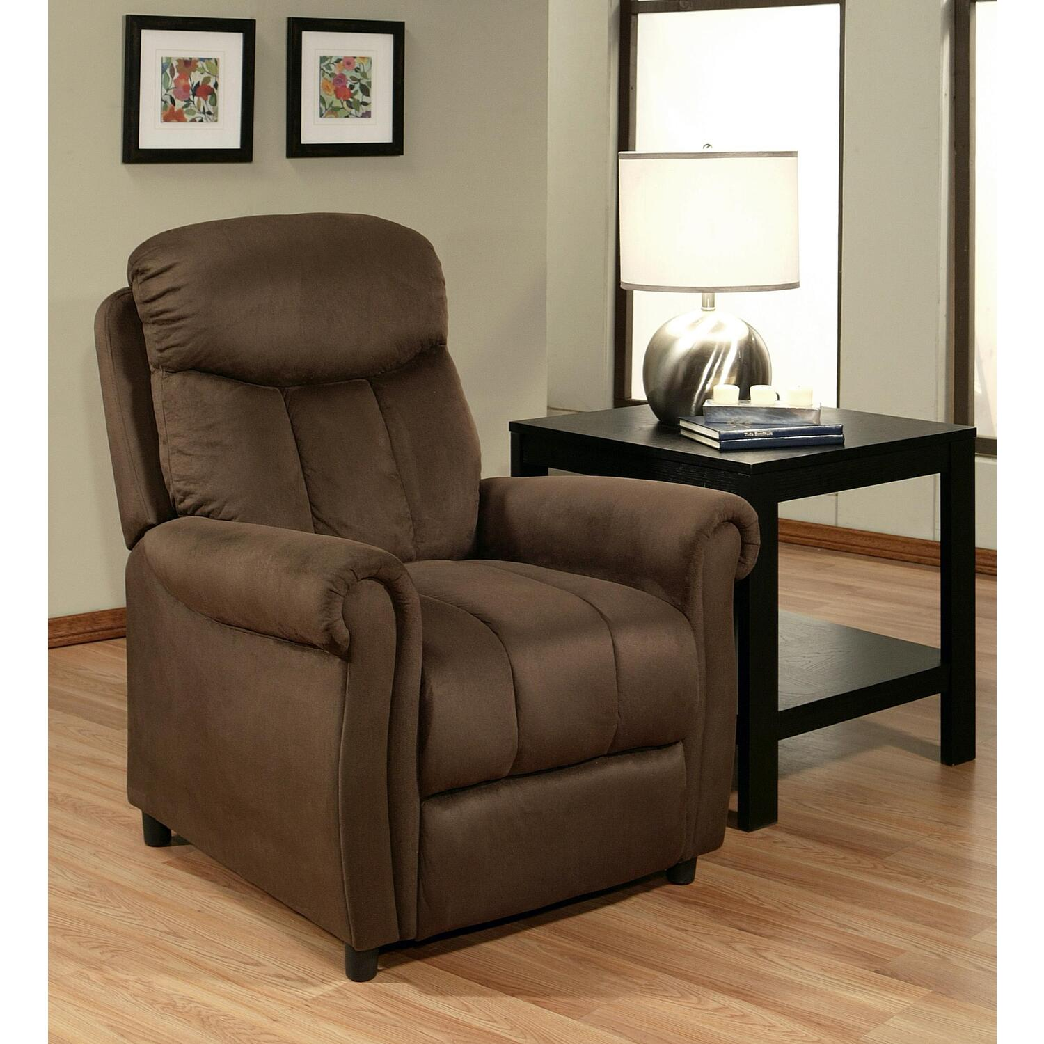 abbyson living microsuede pushback recliner by oj commerce abbl209