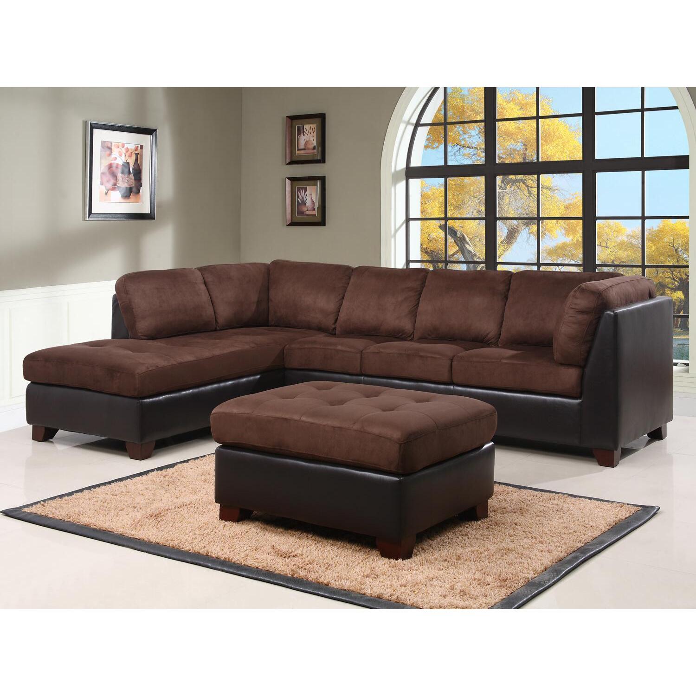Abbyson Living Sectional Sofa and Ottoman by OJ merce