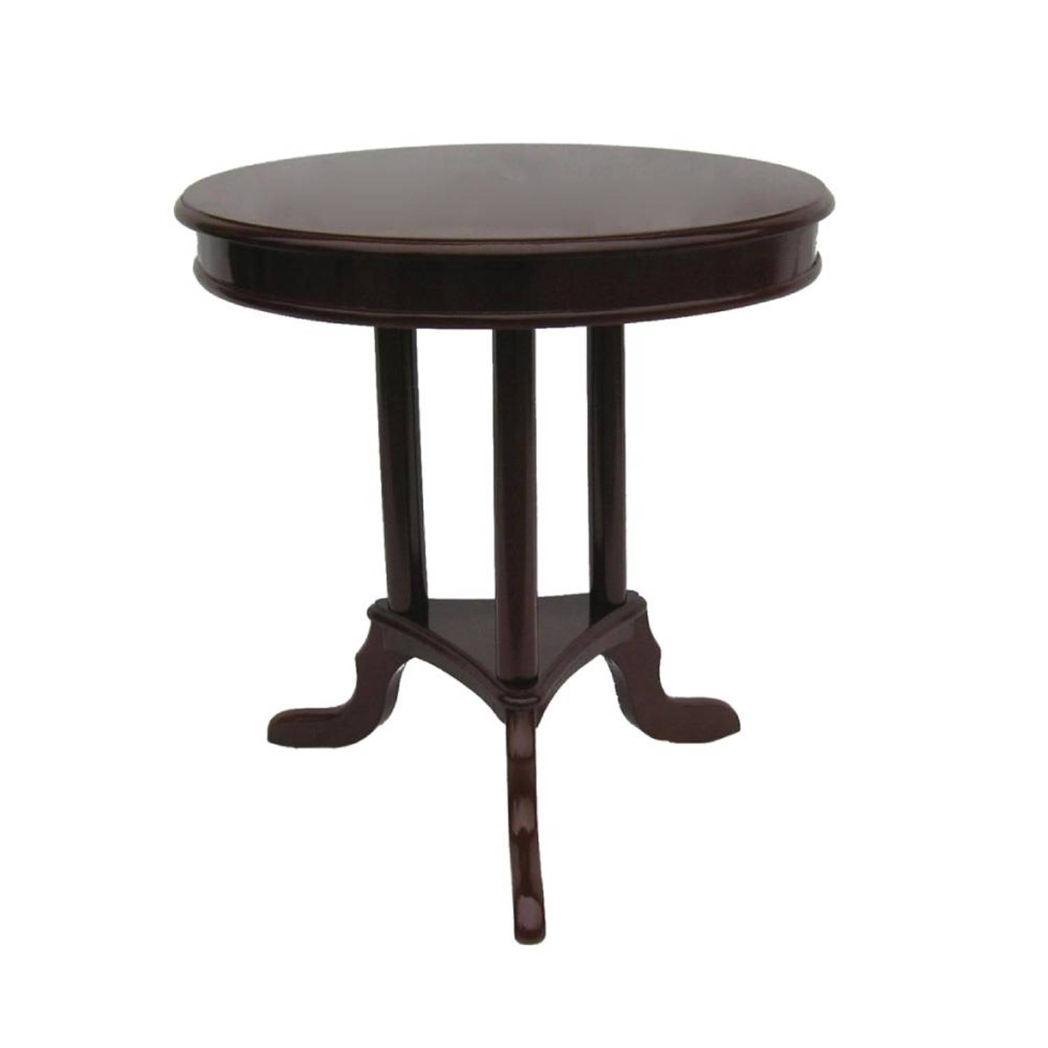 Home source early american accent end table mahogany by for Occasional tables