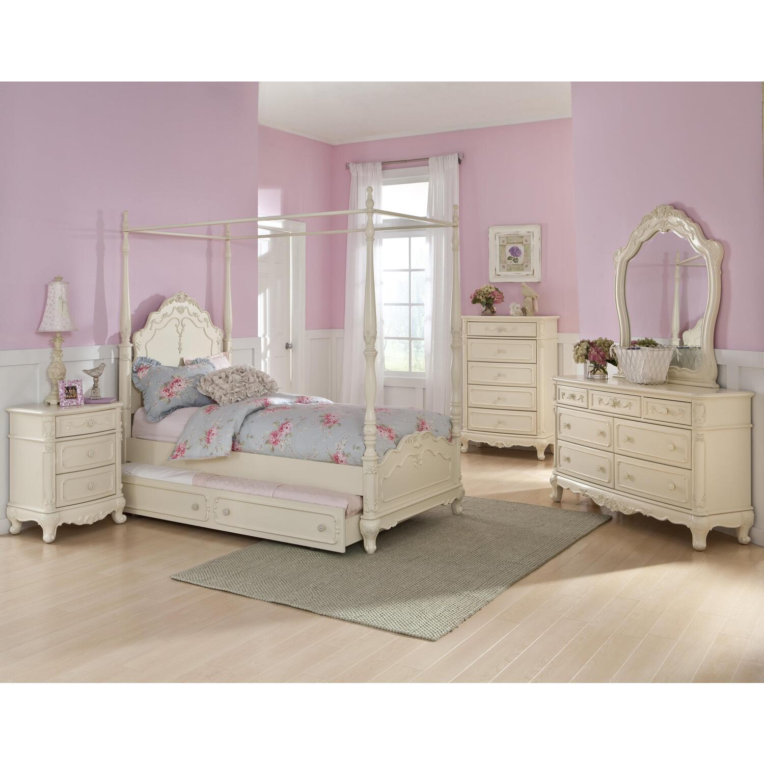 homelegance cinderella twin canopy poster with trundle
