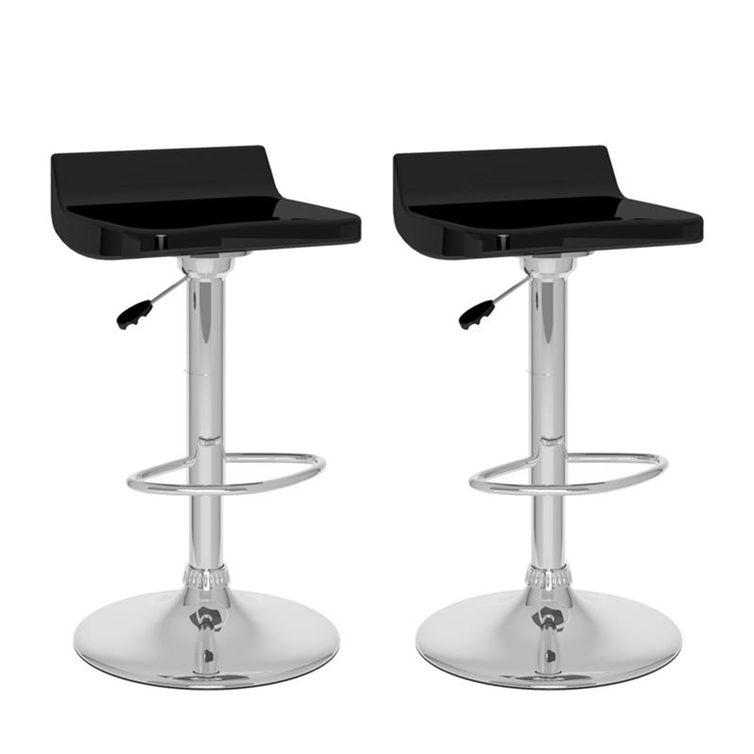 Sonax Corliving Low Back Adjustable Bar Stool Set Of 2 By