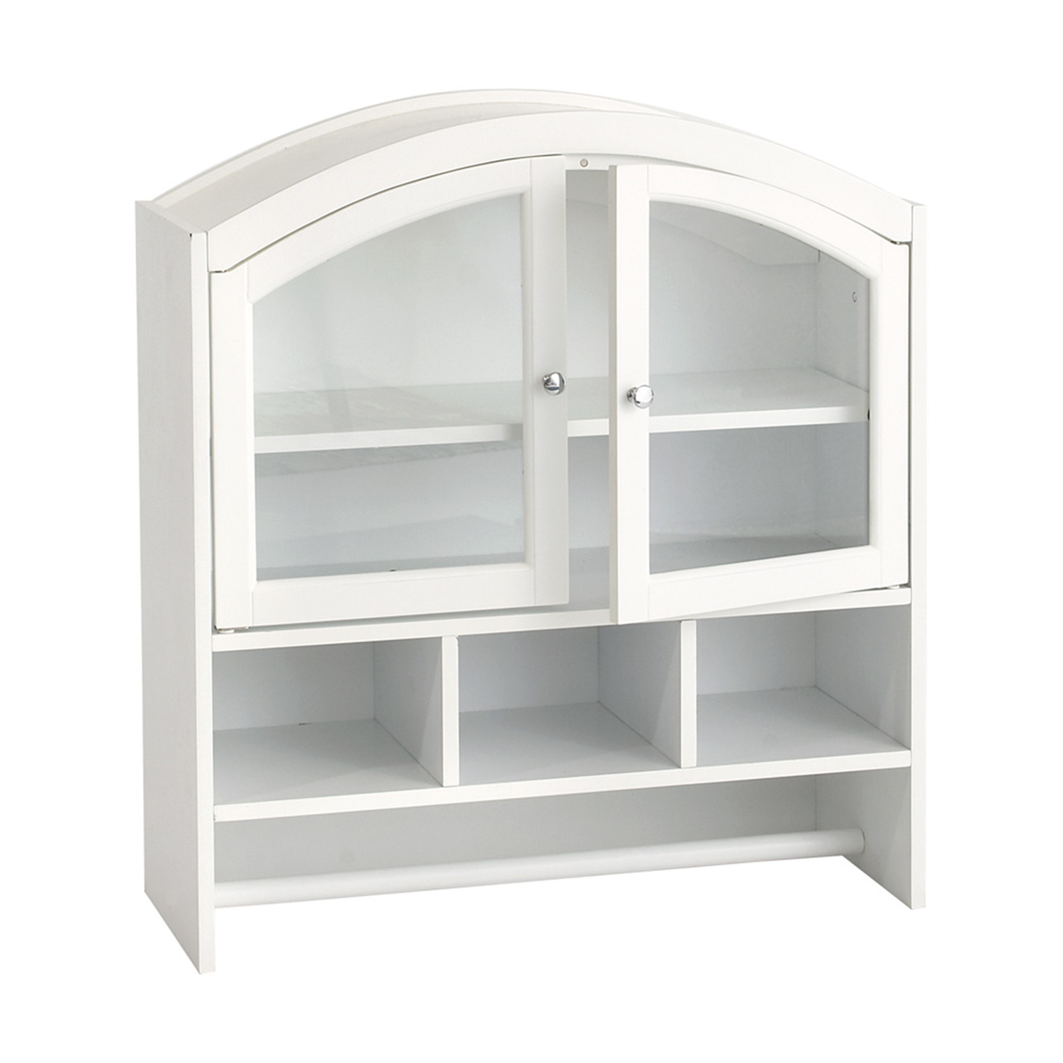 southern enterprises white arch top wall cabinet by oj commercebe6622r