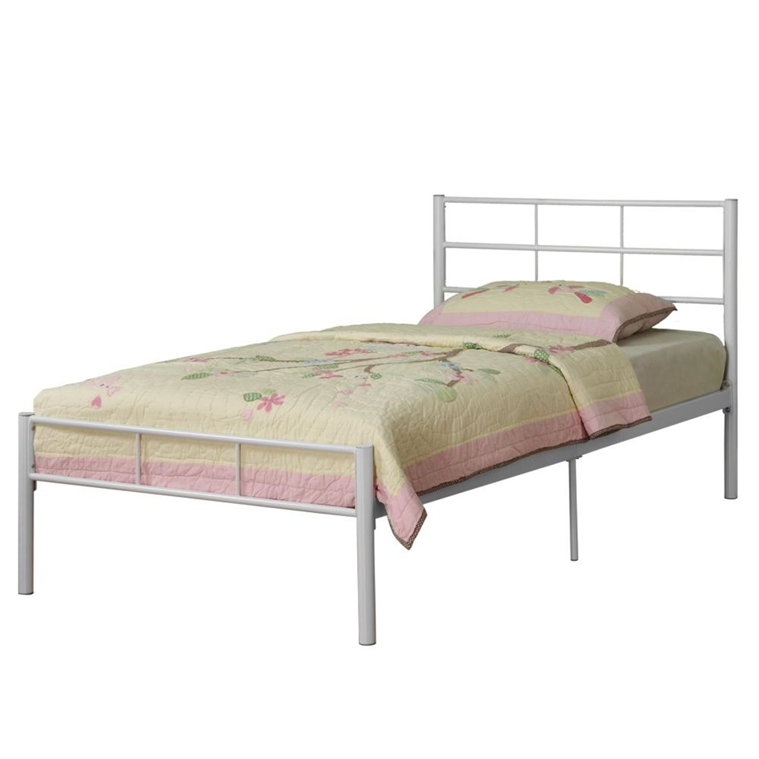 Walker edison twin metal bed frame by oj commerce for Twin bed frame