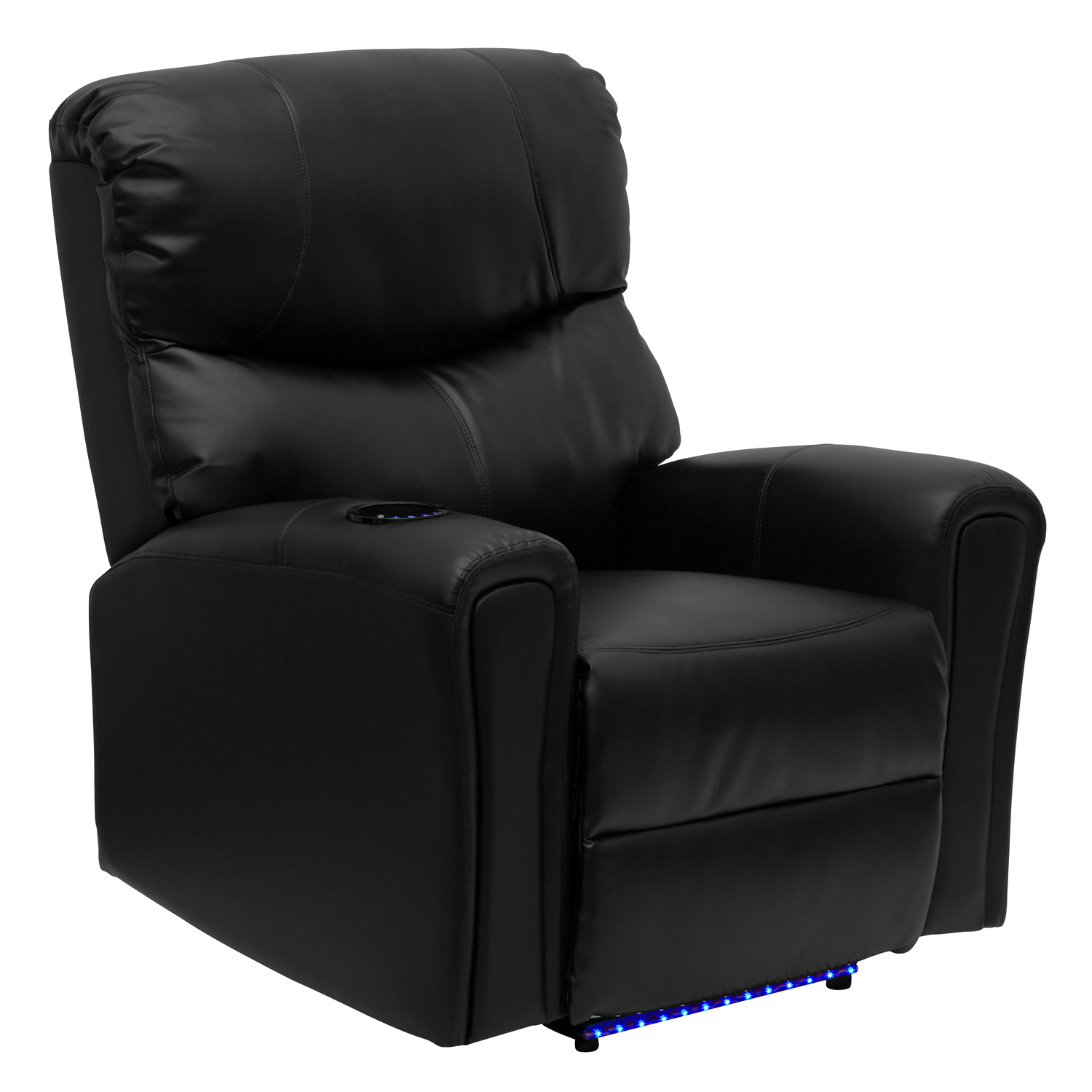 Flash Fully Powered, Automatic Massaging Leather Recliner ...