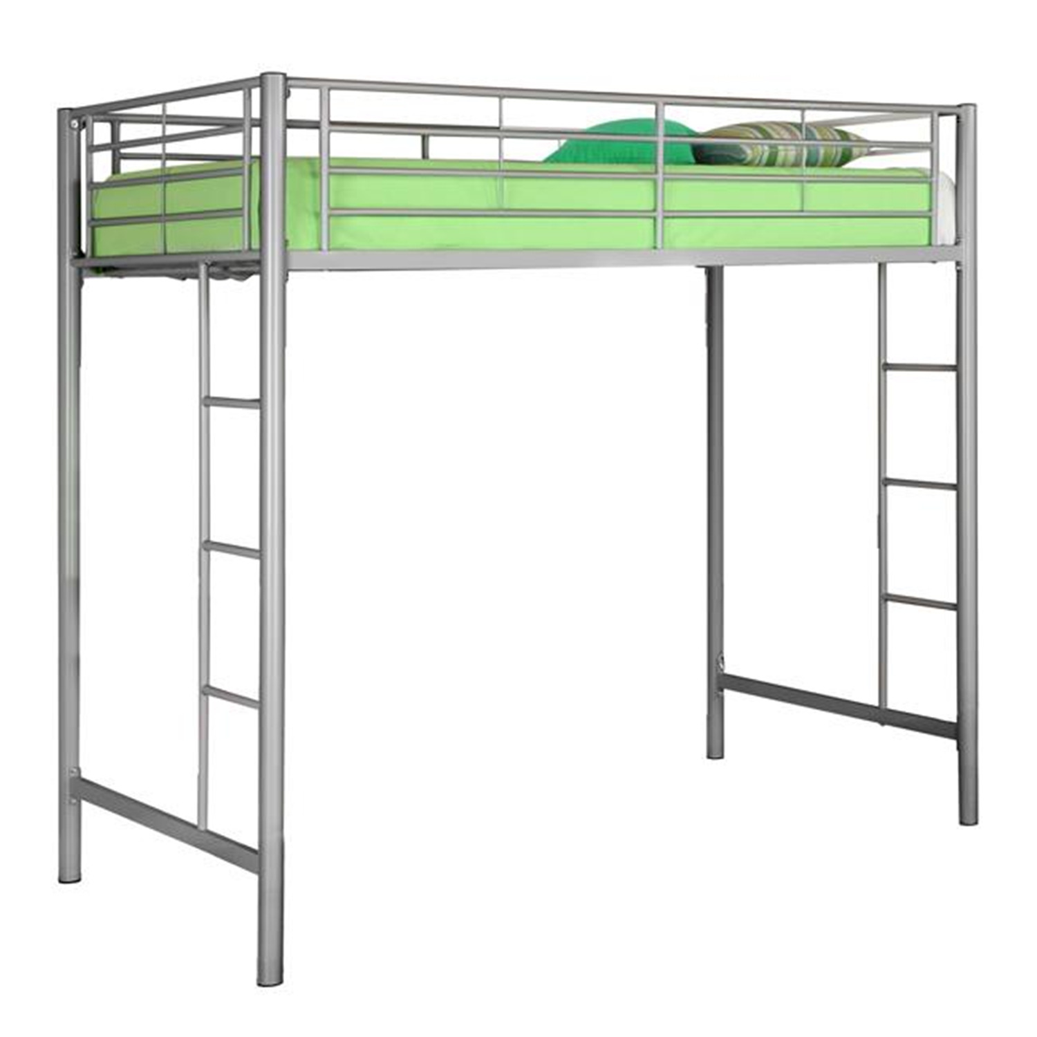 Walker Edison Metal Twin Loft Bunk Bed by OJ Commerce BTOLSL - $399.04