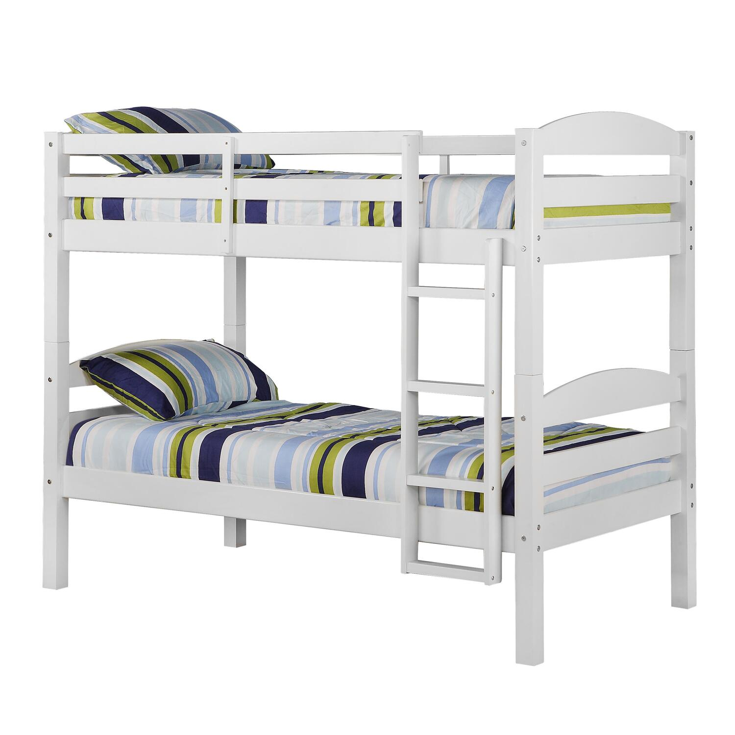 Pics s White Wood Twin Solid Wooden Bunk Bed Beds