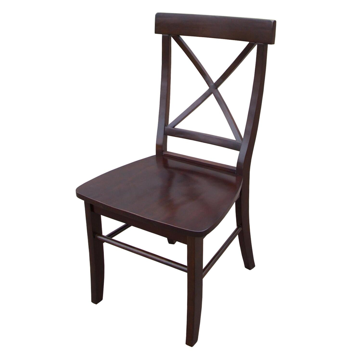 International Concepts X Back Chair With Solid Wood Seat