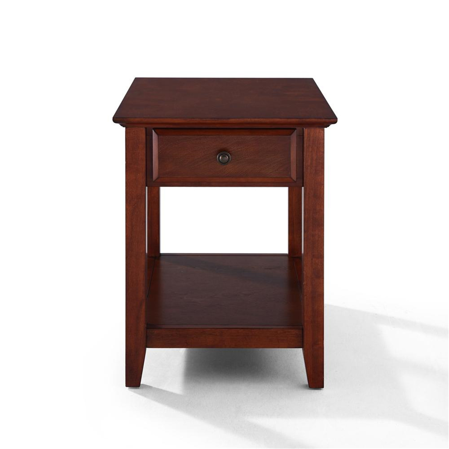Crosley end table with storage drawer by oj commerce for Large side table with drawers