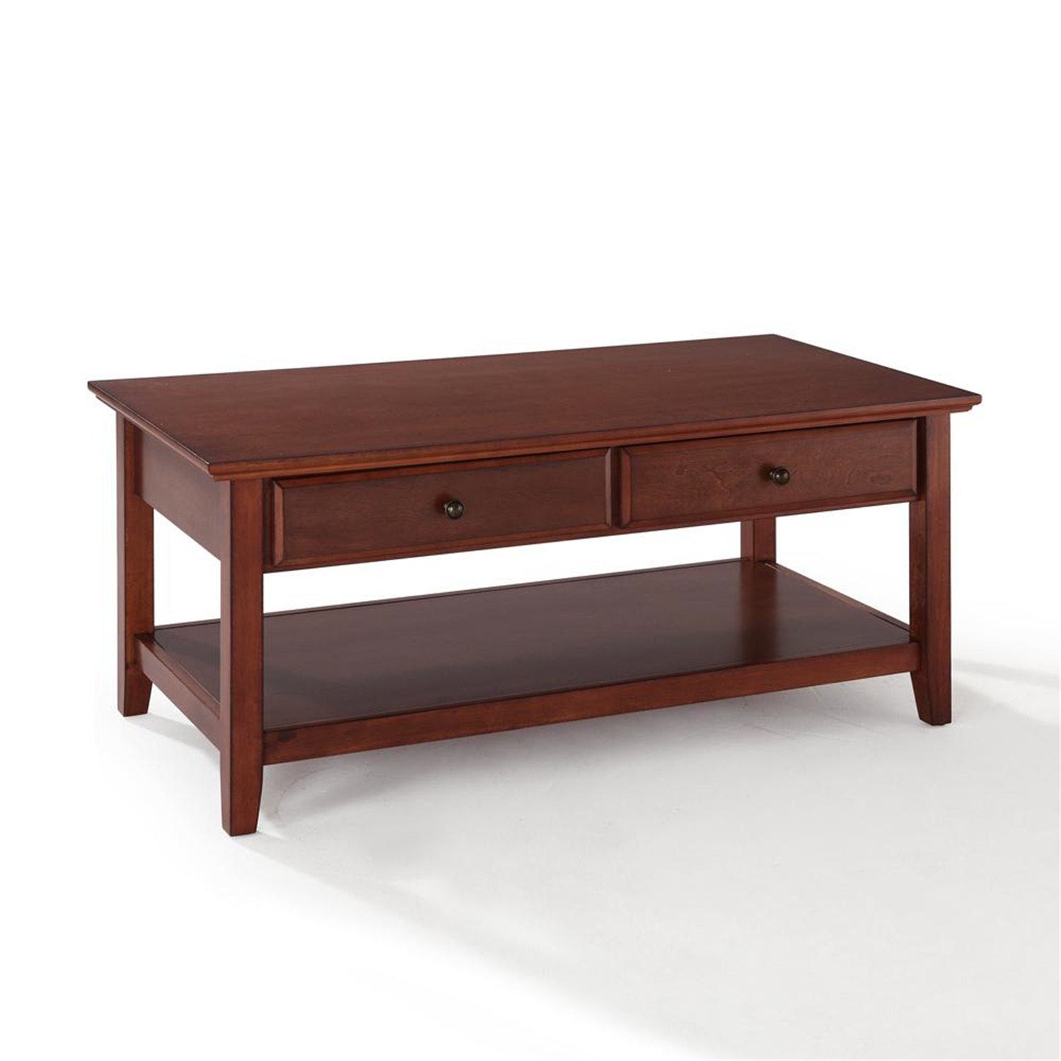 Coffee Table With Drawers: Crosley Coffee Table With Storage Drawers By OJ Commerce