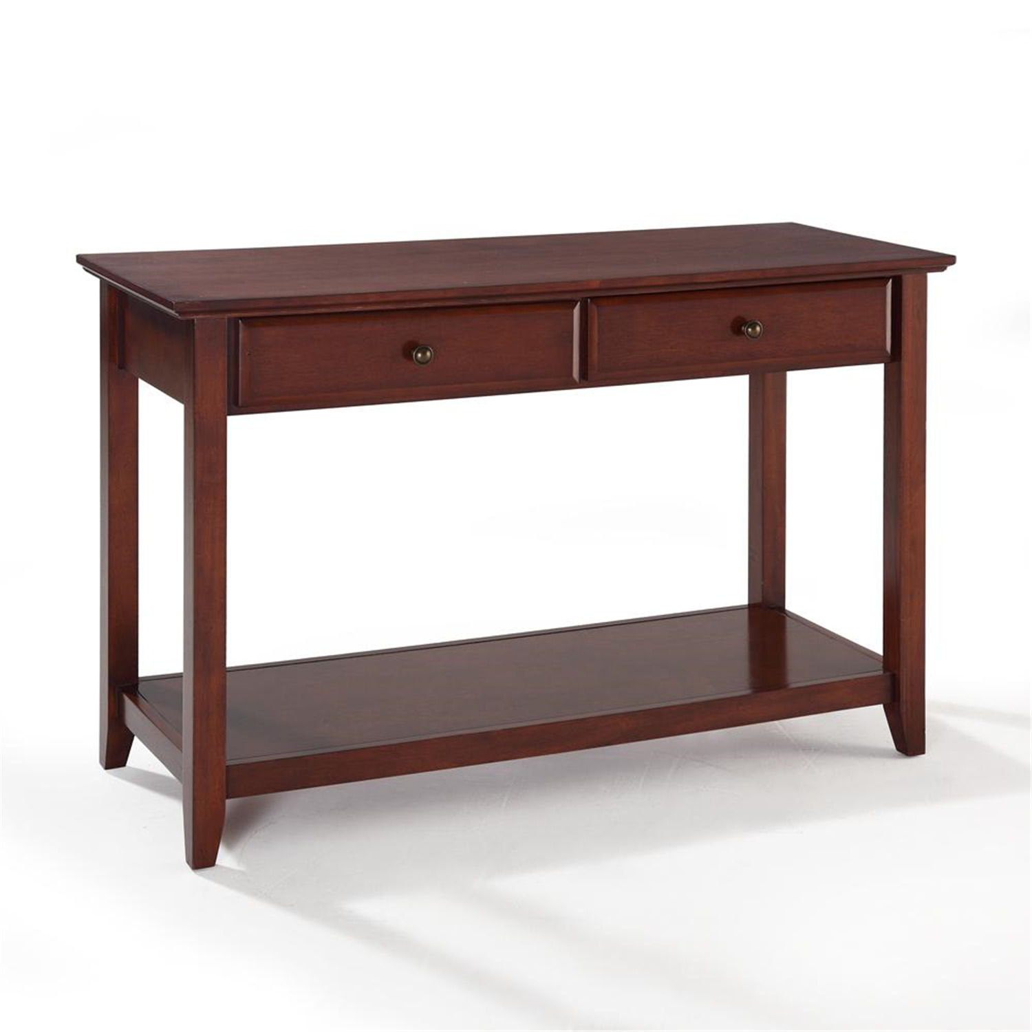 Crosley sofa table with storage drawers by oj commerce for Sofa table large