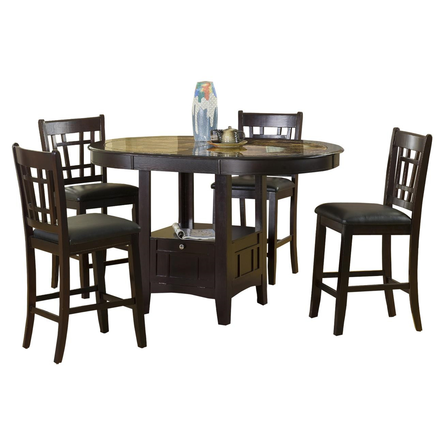 Home source pub table 2 chair set by oj commerce for 99 pub table