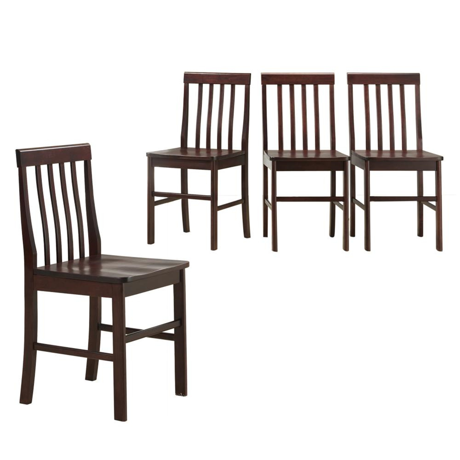 walker edison solid wood dining chairs 4 piece by oj