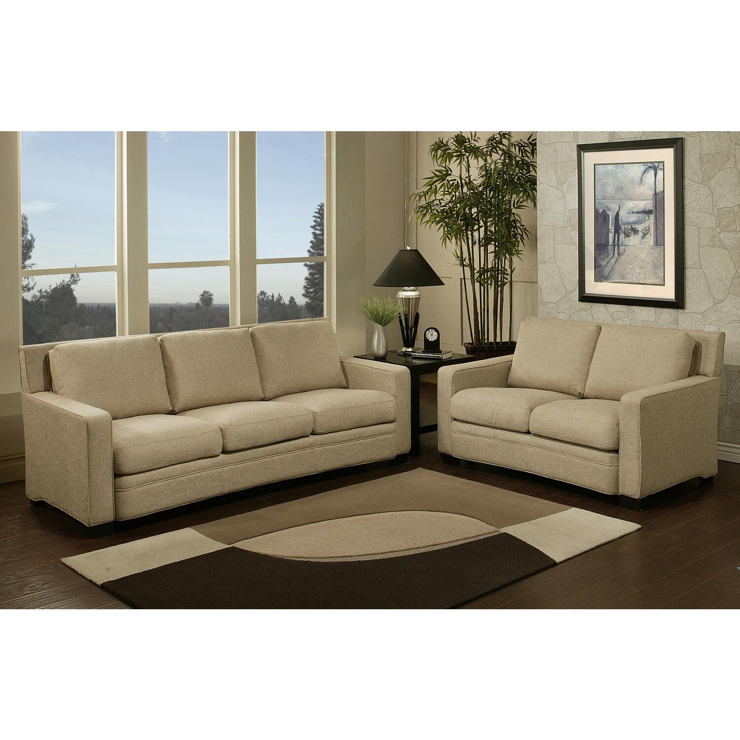 Abbyson Living Adler Fabric Sofa And Loveseat Set By Oj Commerce Ci F230 Crm 3 2 2