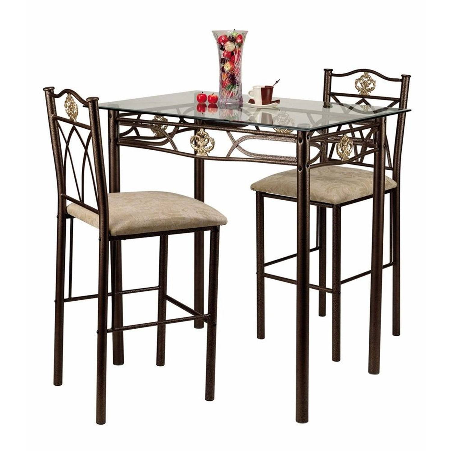 Home source 3 pc bistro set by oj commerce crownbistro 218 99