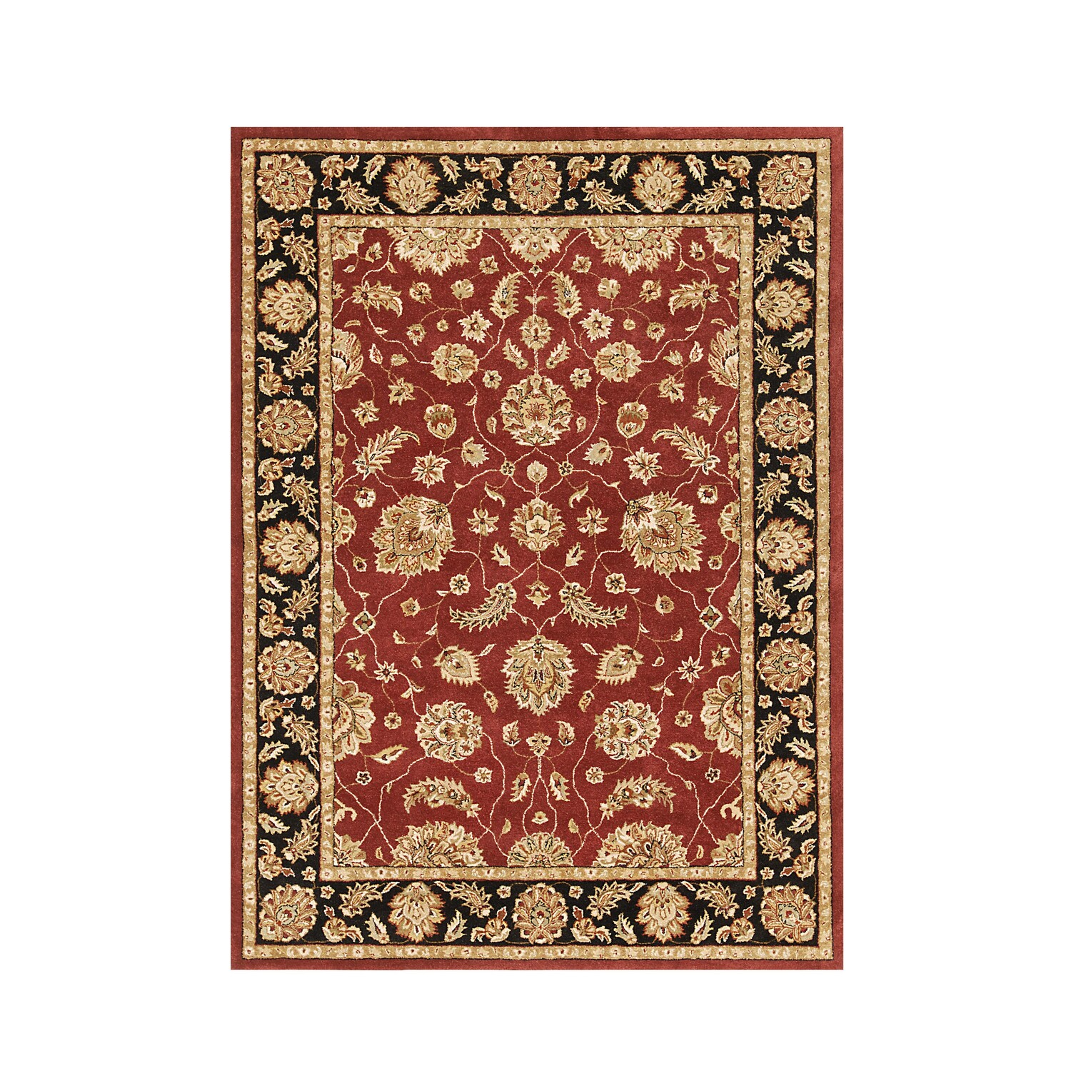 Product Details - Red Paisley Tufted Wool Rug
