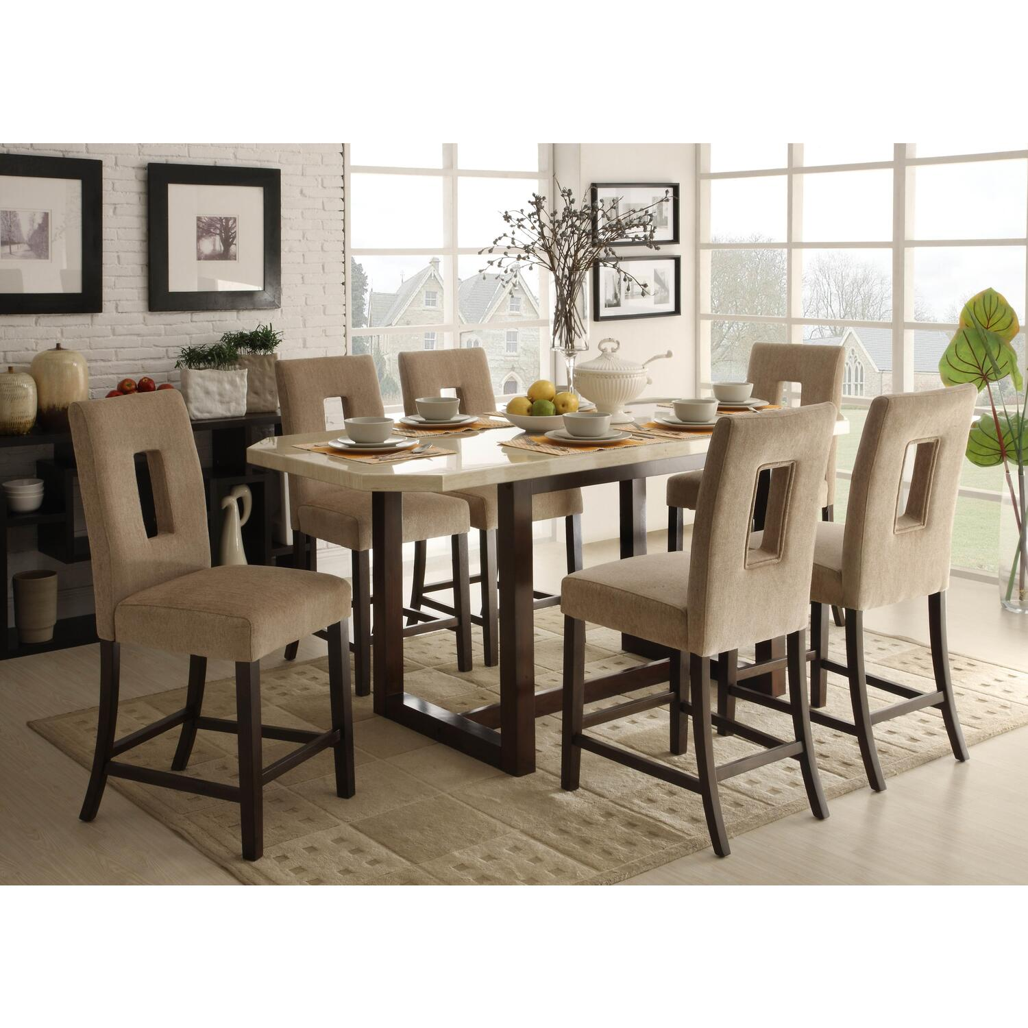 Homelegance Reiss Counter Height Table Set By OJ Commerce