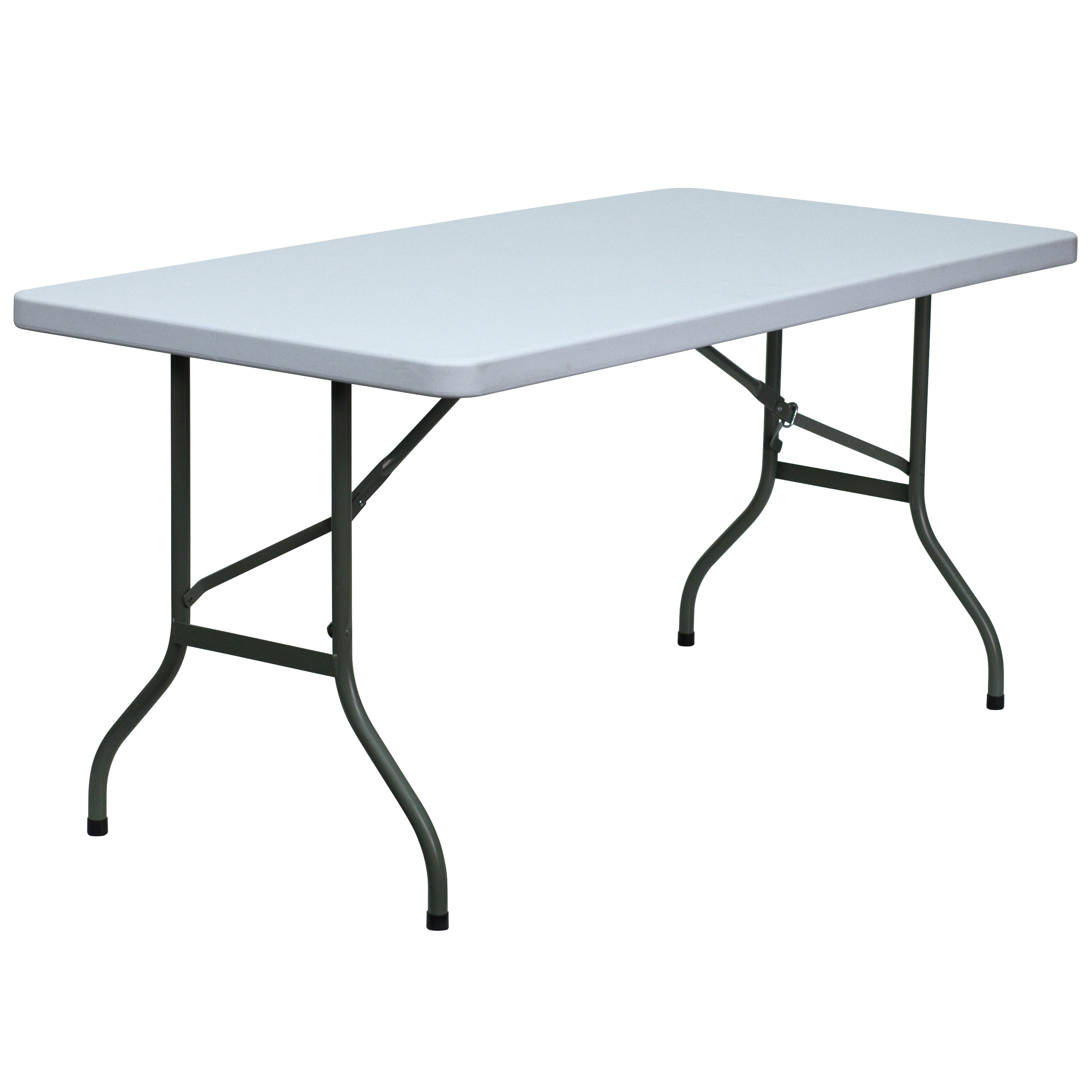 Flash 30 W X 60 L Blow Molded Plastic Folding Table By