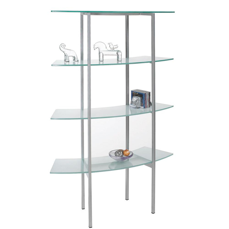 Dainolite free standing glass bookshelf by oj commerce dbs - Glass free standing shelves ...