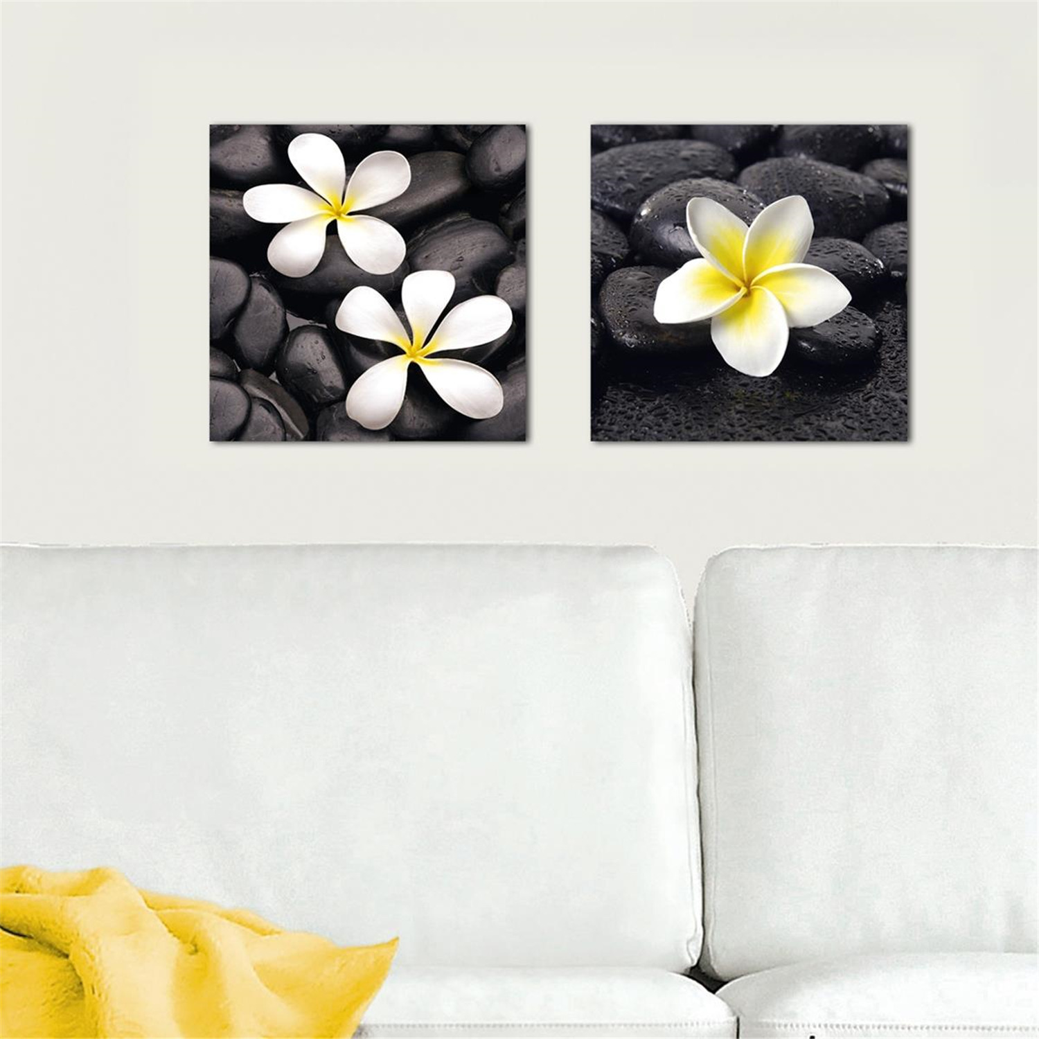 Platin art deco glass wall decor art on glass jasmine for Glass wall art