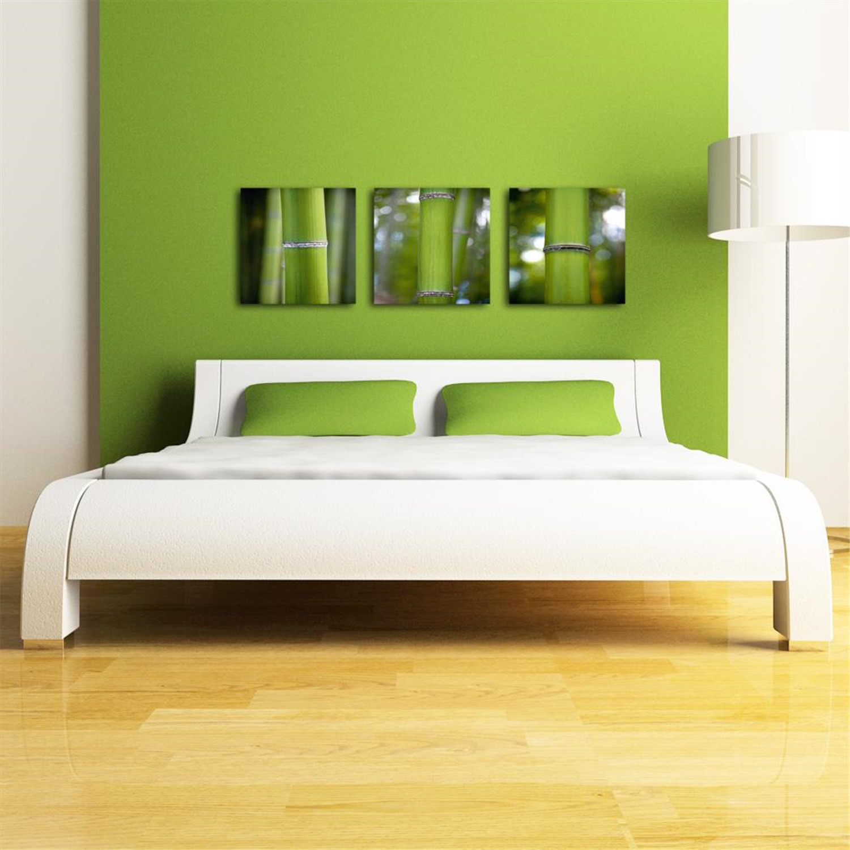 Platin Art Deco Glass Wall Decor Art On Glass Bamboo