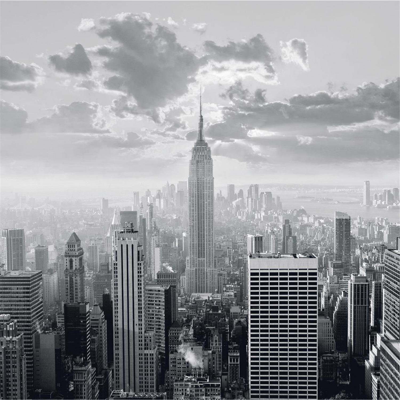 Platin Art Deco Glass Wall Decor Art On Glass Skyline