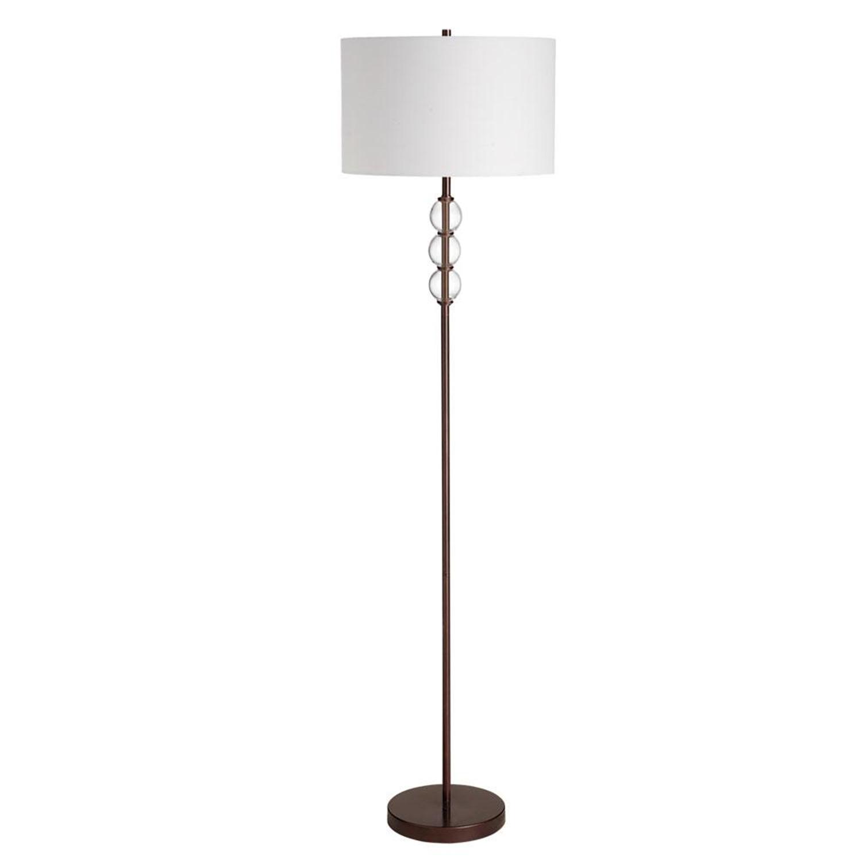 dainolite three glass balls floor lamp by oj commerce. Black Bedroom Furniture Sets. Home Design Ideas