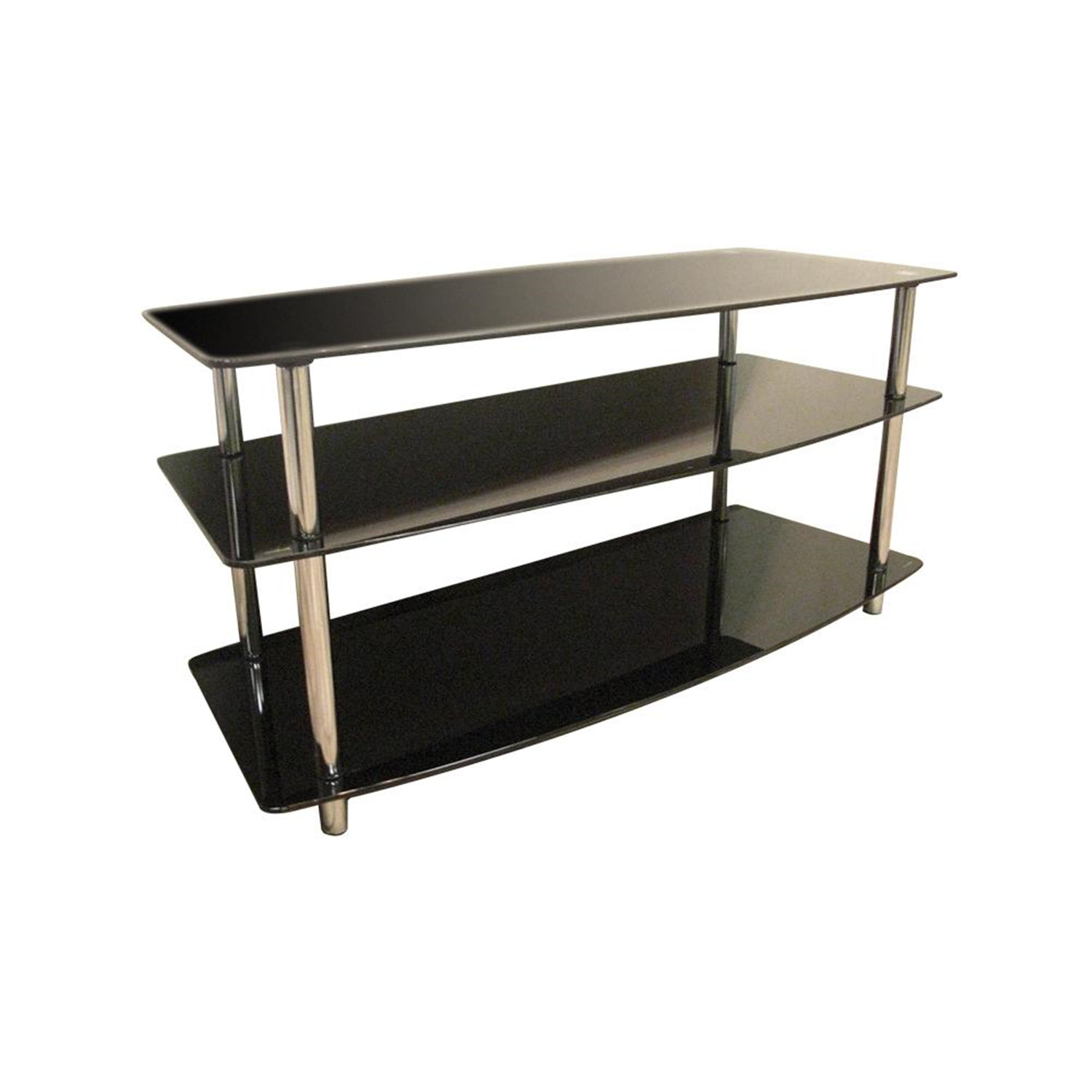 Home Source Black Glass Tv Stand by OJ Commerce DR-8145 - $169.50