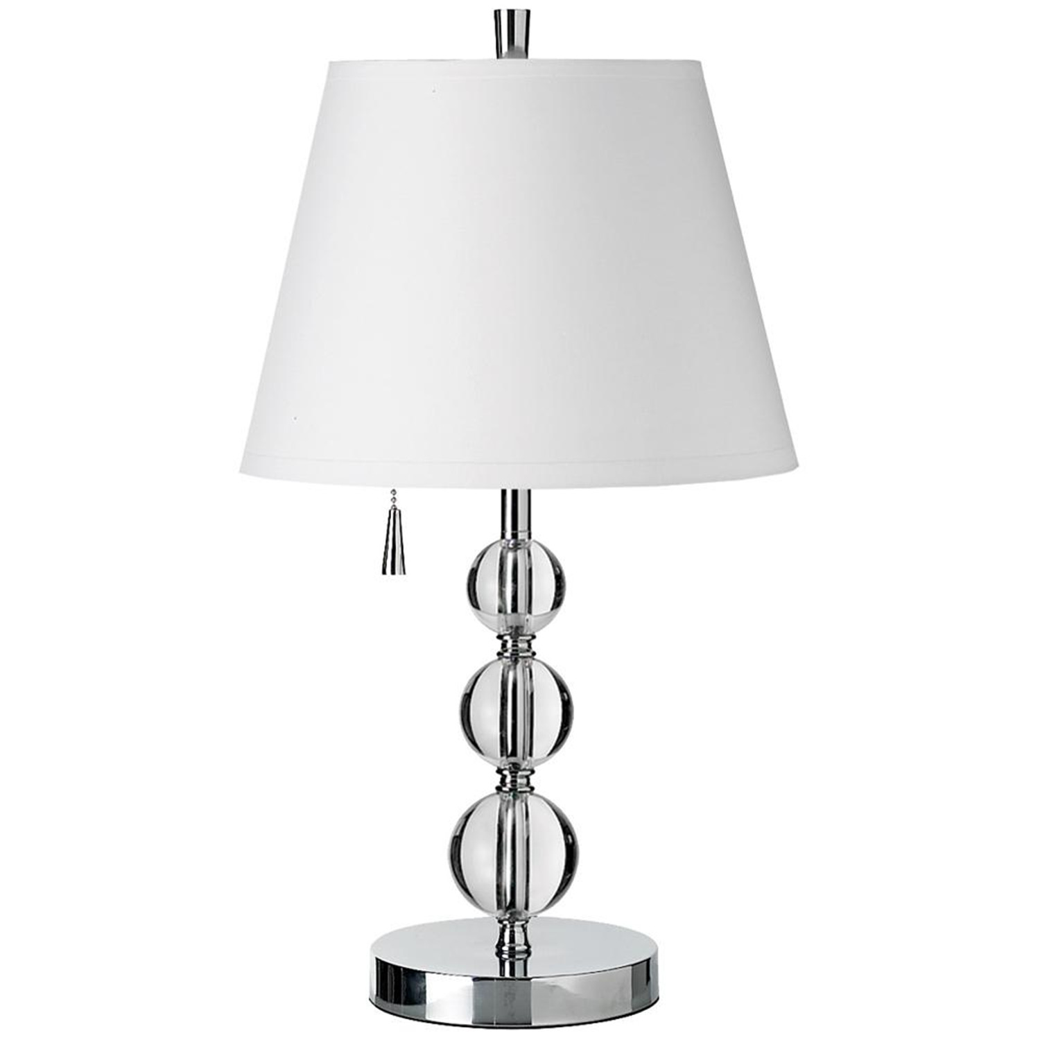 dainolite three crystal balls table lamp by oj commerce 220. Black Bedroom Furniture Sets. Home Design Ideas