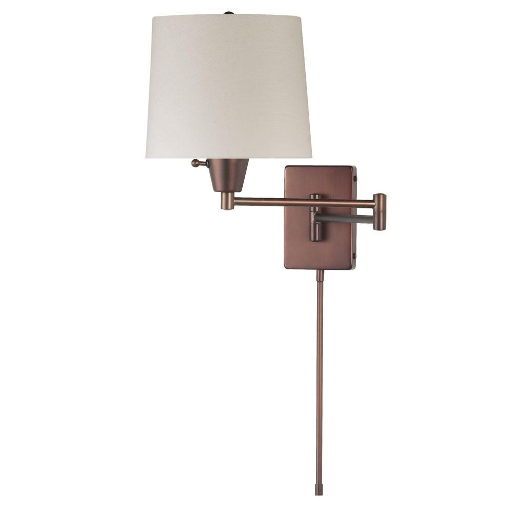 Wall Lamps For Pictures : Dainolite Shaded Swing Arm Wall Light by OJ Commerce DWL80DD-OBB - USD 172.00