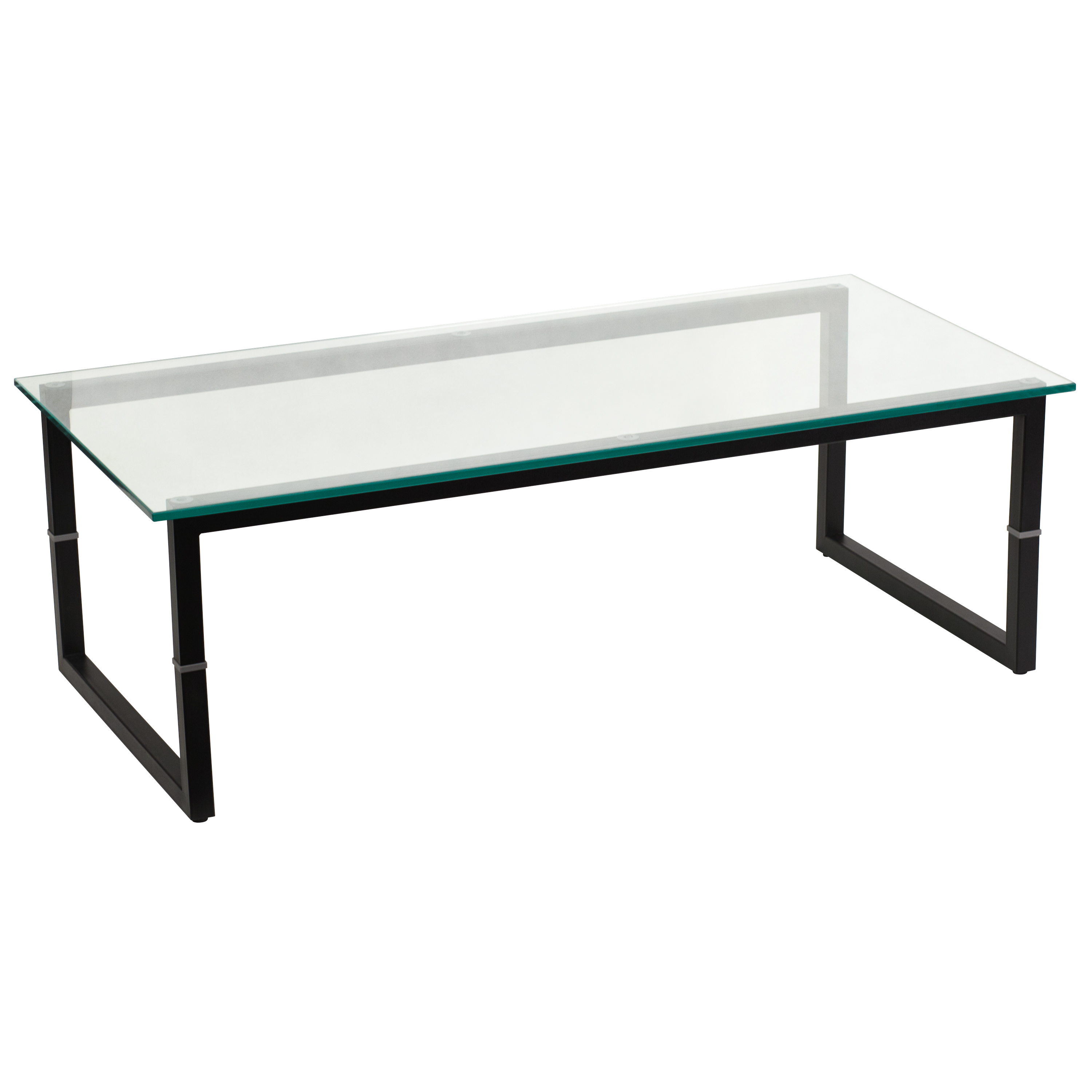 Flash glass coffee table by oj commerce fd coffee tbl gg Metal and glass coffee table