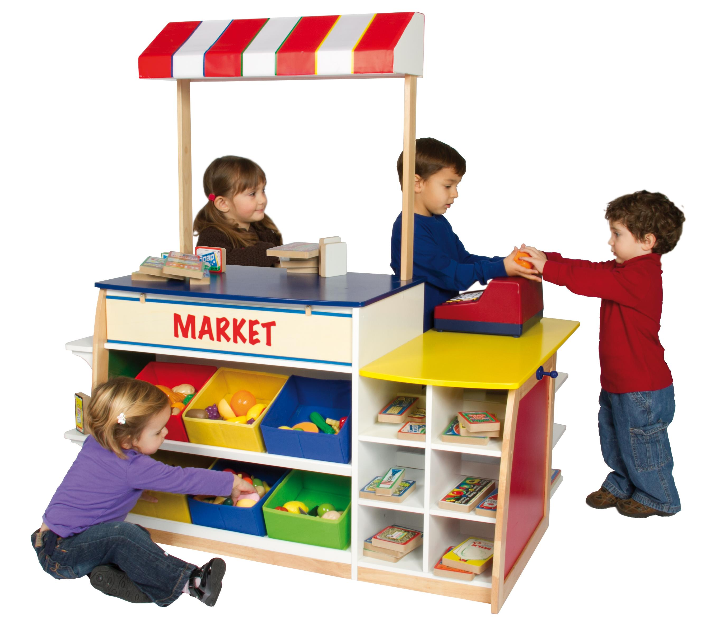 Guidecraft Color Bright Dramatic Play Center by OJ ...