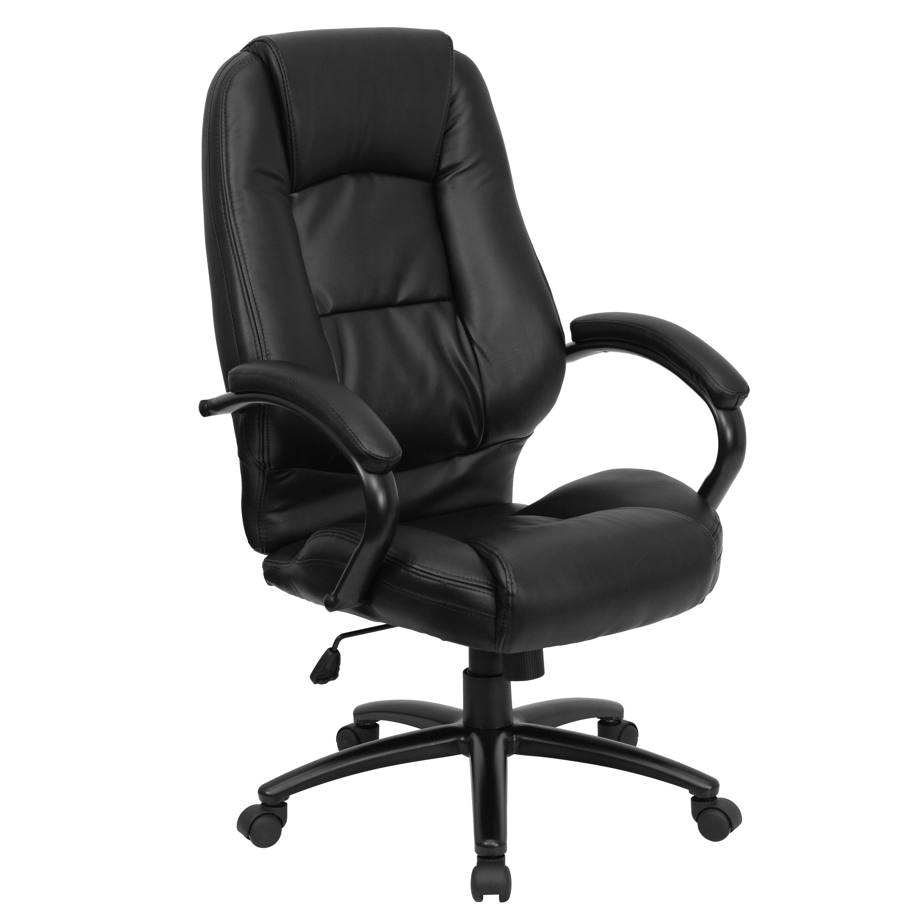 Flash High Back Black Leather Executive Office Chair By OJ Commerce GO 710 BK