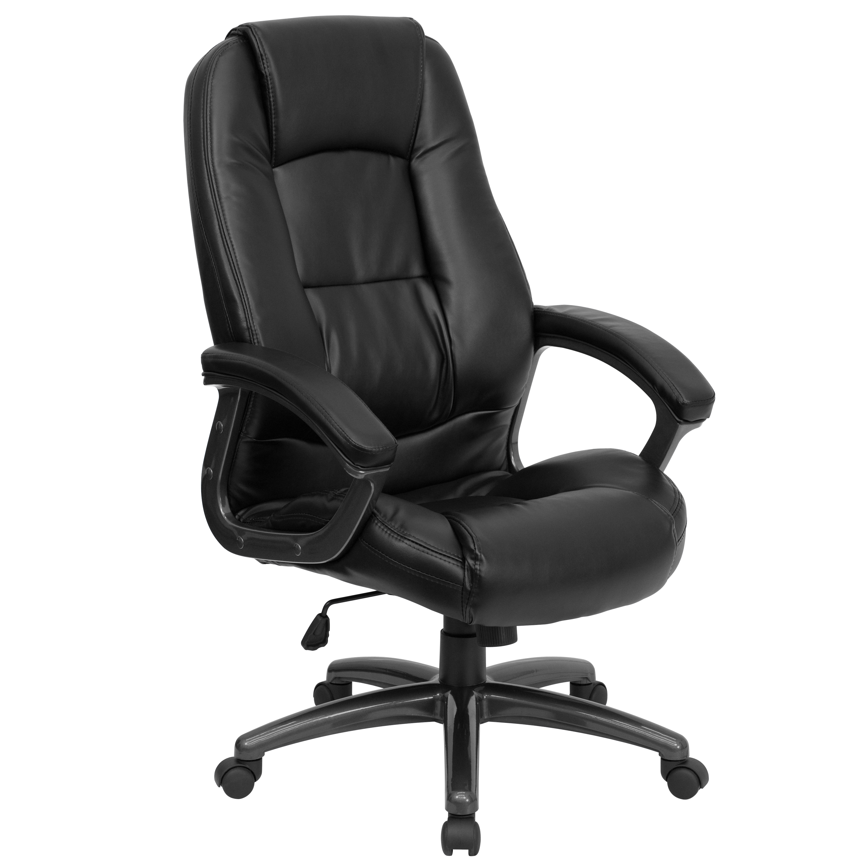 Flash Furniture High Back Black Leather Executive Office Chair By OJ Commerce