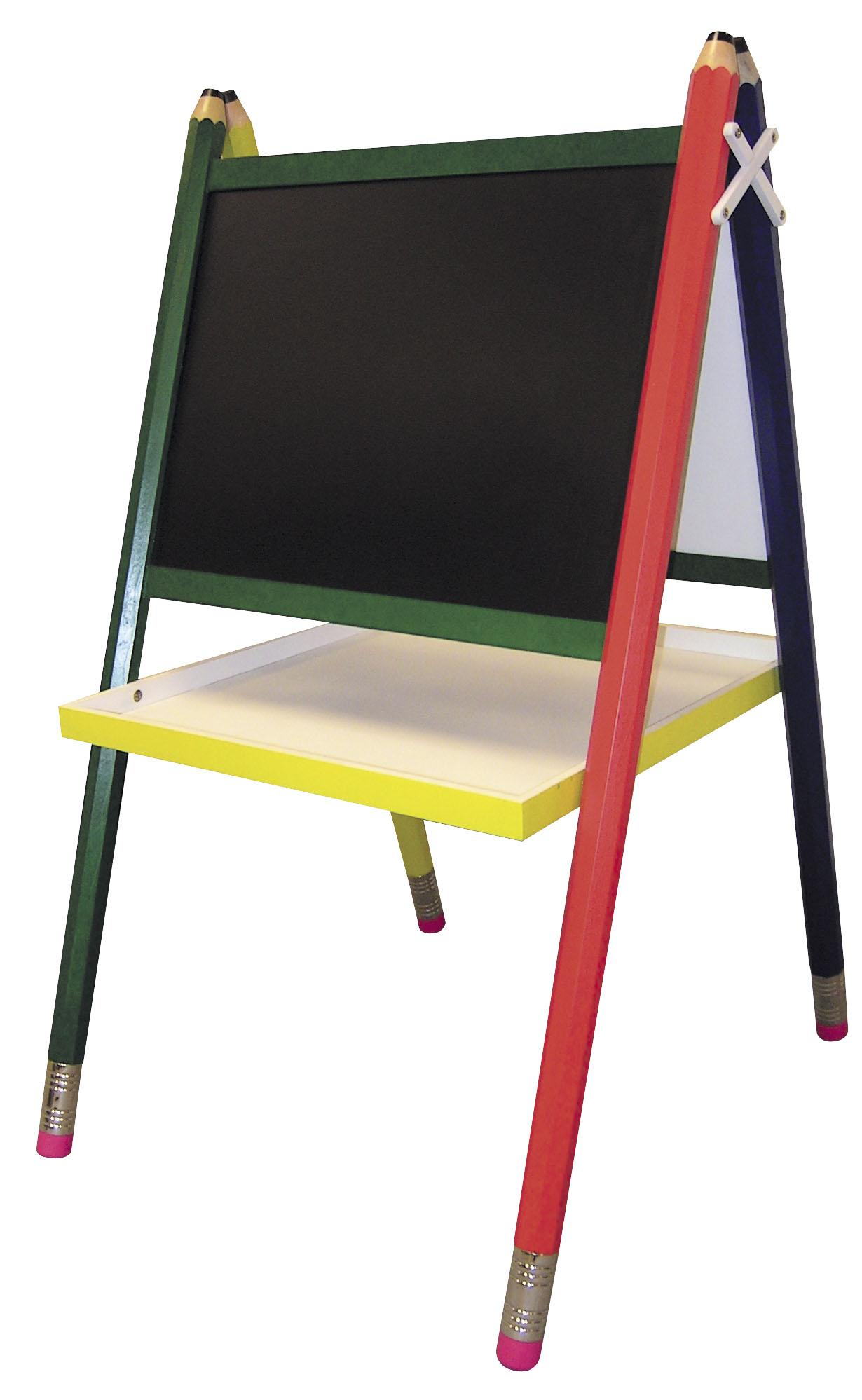 Mygift Small Wood Chalkboard Easel Childrens Free Standing