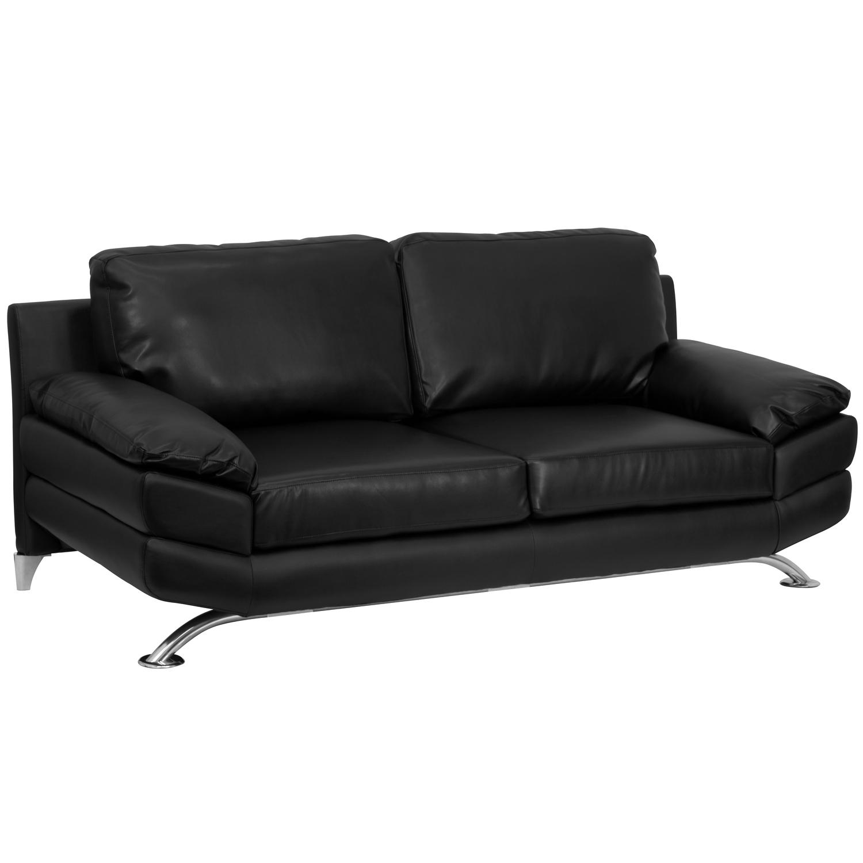 flash furniture hercules excel series plush black leather