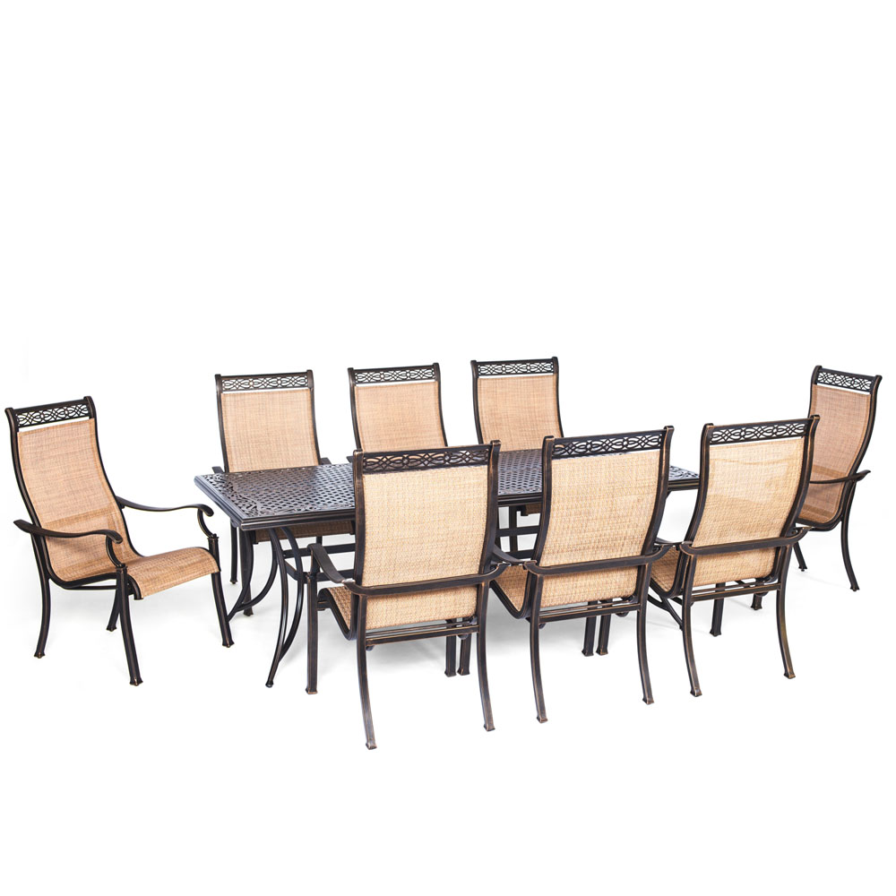 hanover manor 9 piece outdoor dining set by oj commerce hanfurmandn9pc