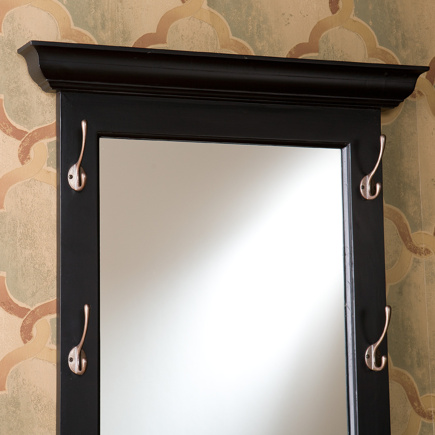 Southern enterprises paxton black entryway hook mirror by for Mirror hooks