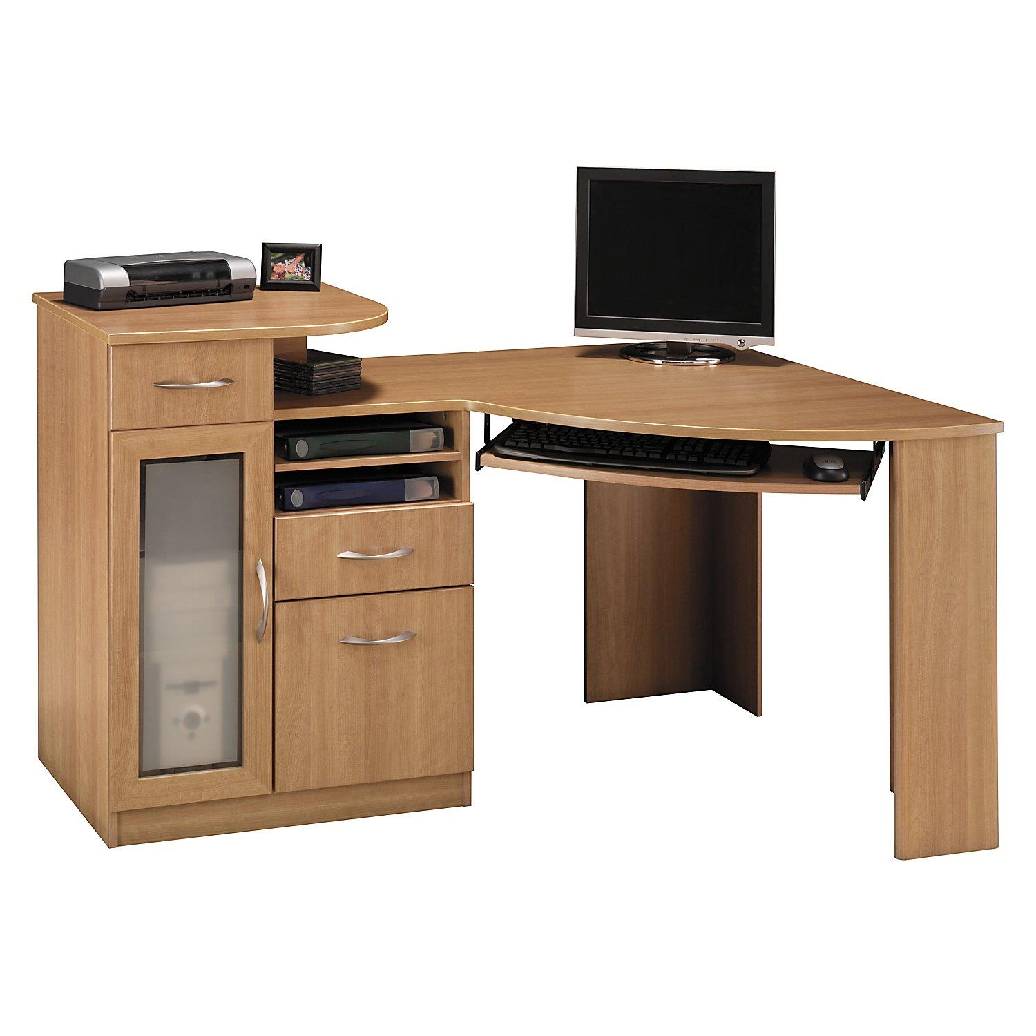 bush furniture corner desk by oj commerce. Black Bedroom Furniture Sets. Home Design Ideas