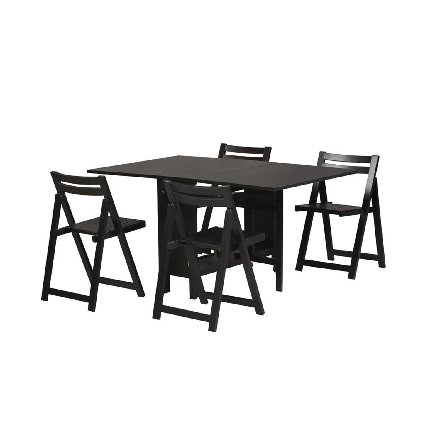 Linon space saver 5 piece dining set by oj commerce 901blk - Small space dinette sets set ...