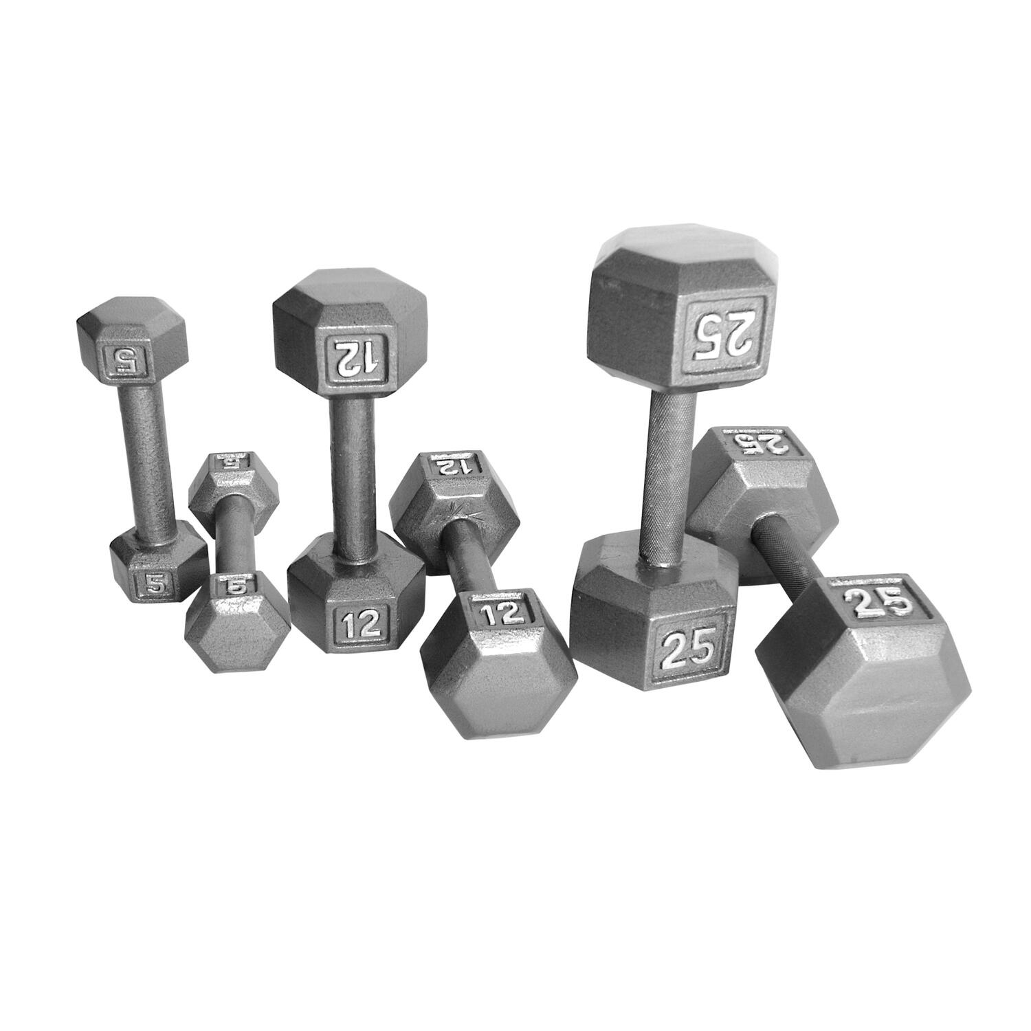 Small Dumbbell Set: Cap Barbell CAP Hex Dumbbell Set Sizes 5-50 Lbs By OJ