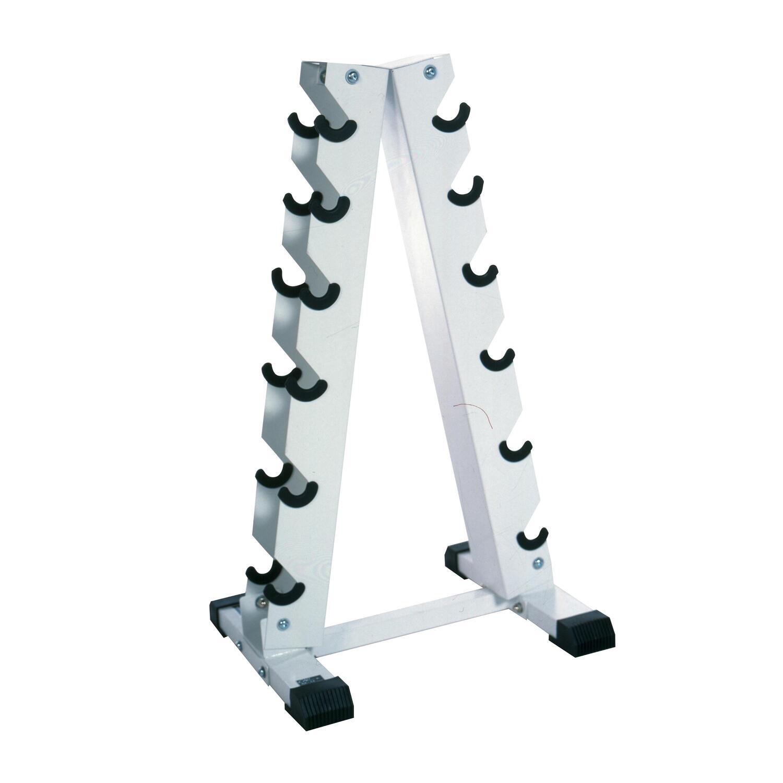 """Small Dumbbell Set: Tone Fitness CAP """"A"""" Frame Dumbbell Rack (Holds 5-30lb"""