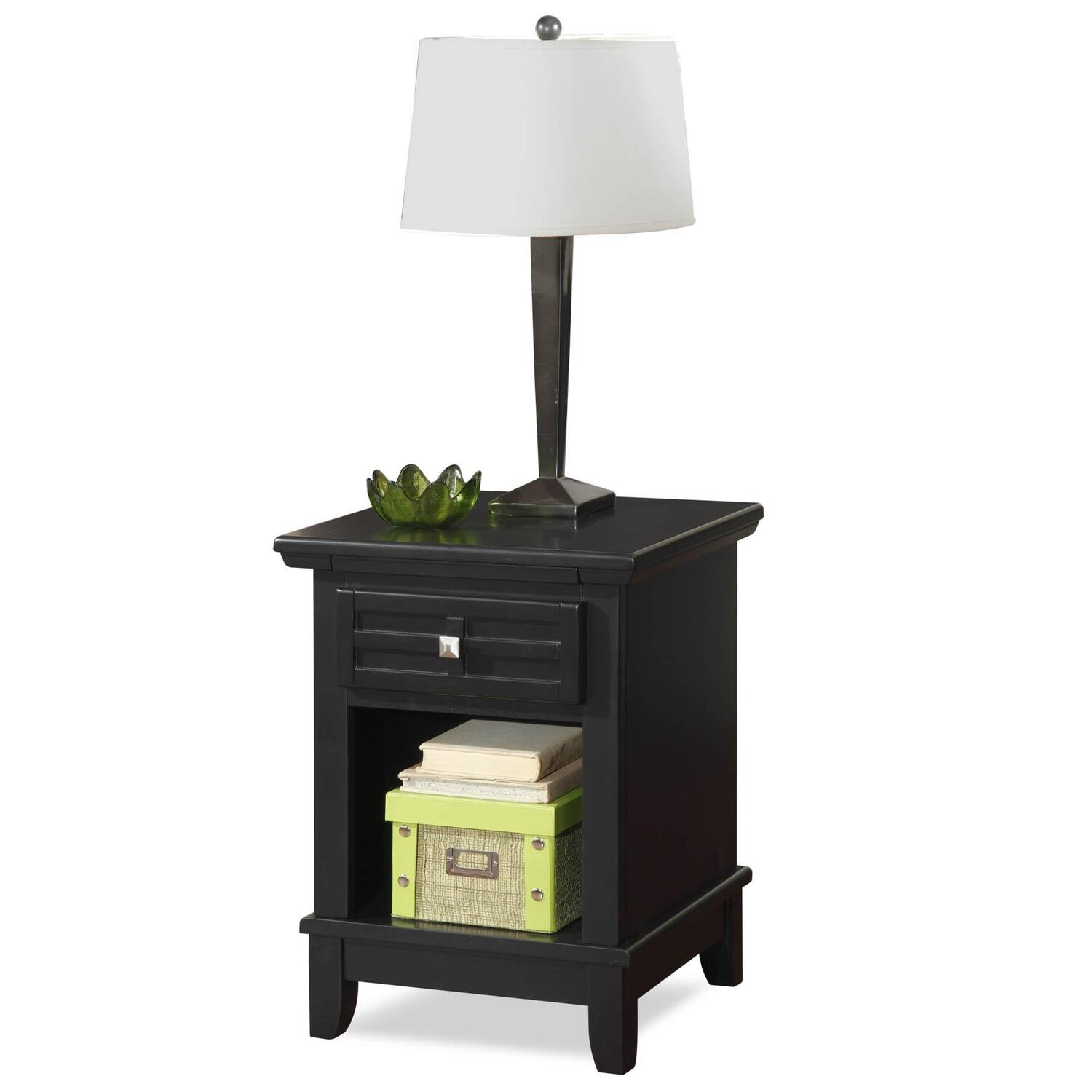 Home Styles Arts Crafts Black Night Stand By Oj Commerce